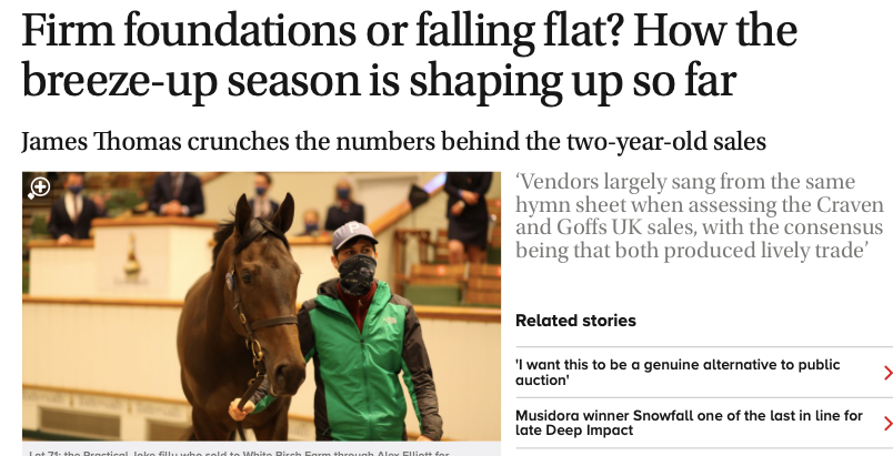 Firm foundations or falling flat? How the breeze-up season is shaping up so far