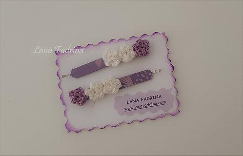 Pack de Clips con flores mini y papel