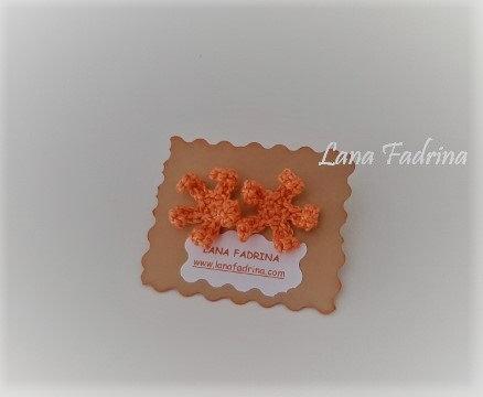 Pendientes flor rizada