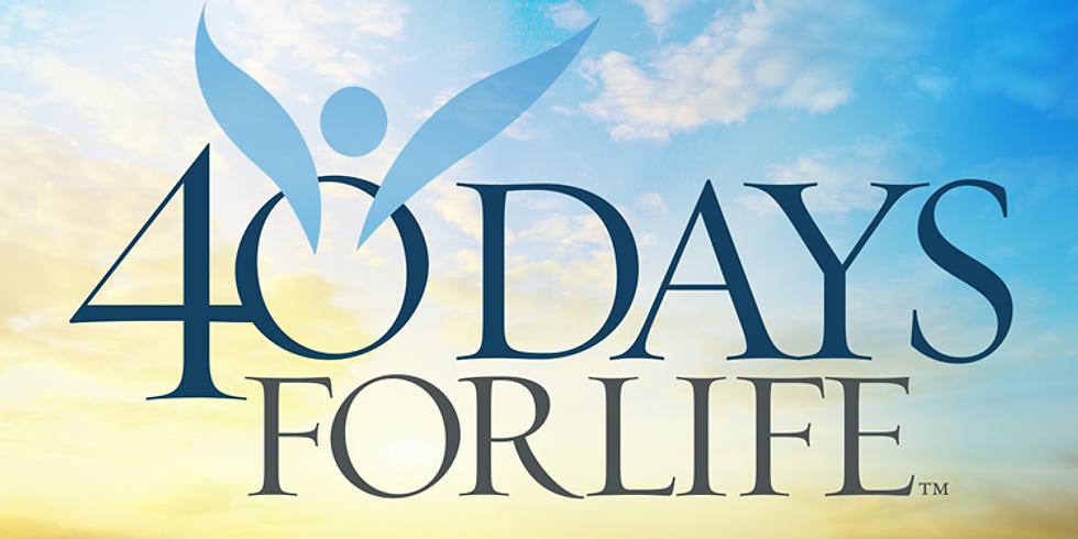 40 Days for Life Prayer Walk
