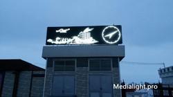 Монохромная видеовывеска в Самаре