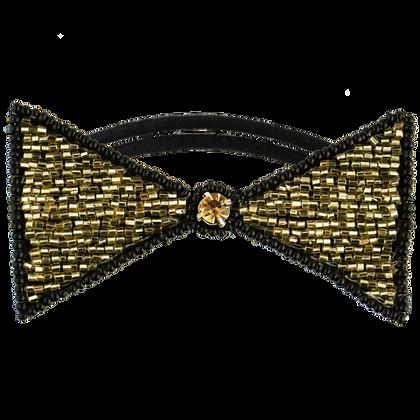 Hair Accessories - Tassel Dolores Hair Tie - Gold/Black