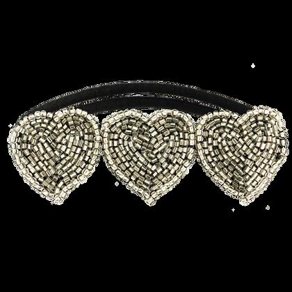 Hair Accessories - Tassel Paddington Hair Tie - Silver