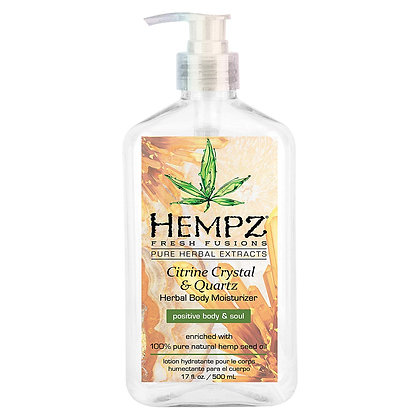 Hempz 17oz Citrine Crystal & Quartz Body Moisturizer