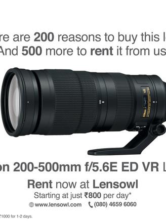 Nikon 200-500mm Lens Poster