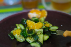 photo culinaire courgettes clementines O