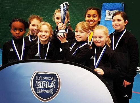 London GDA U10 Capital Girls League Futsal winners 2017/18