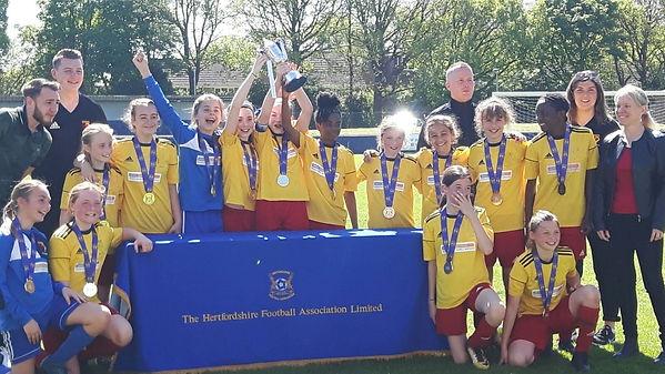 London GA U12 CapitalGirls League winners 2017/18