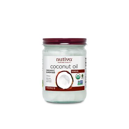 Aceite de Coco Virgen Orgánico Nitova Vidrio 414 ml