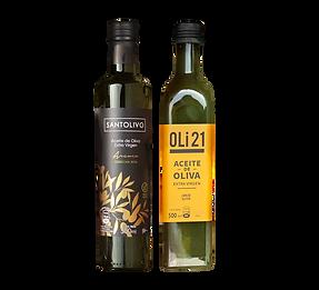 Botellas de aciete de oliva extra virgen