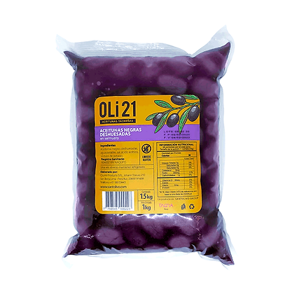 Aceitunas negras deshuesadas OLI21 1 kilo