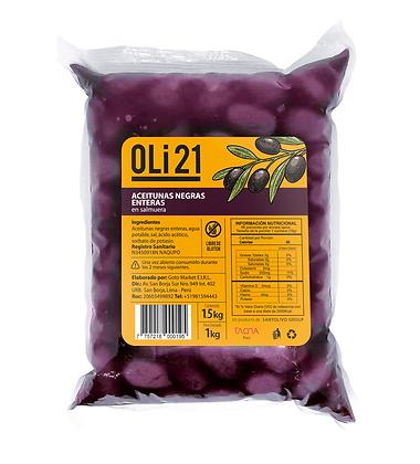 OLI21 1 kilo Aceitunas negras enteras