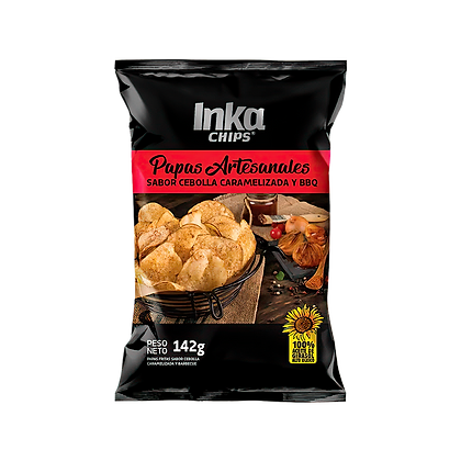 Papas Artesanales Cebolla Caramelizada & BBQ  Inka Chips  142 gr