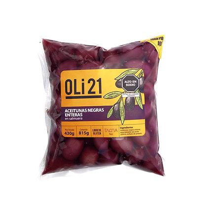 OLI21 430 gr Aceitunas negras enteras