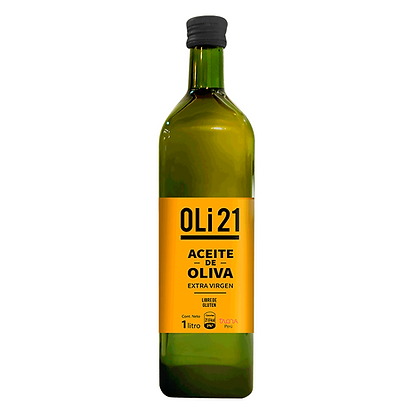 OLI21 1 litro Vidrio Aceite de oliva extra virgen