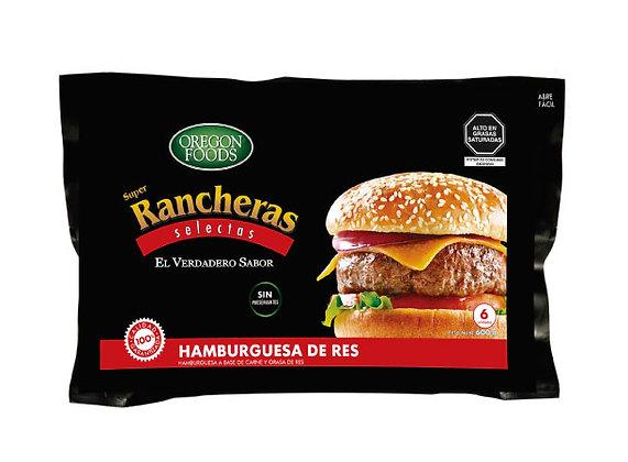 Hamburguesas de Carne de Res OREGON FOODS Bolsa 600 g