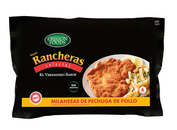 Milanesa de Pechuga de Pollo OREGON FOODS Bolsa 900 g