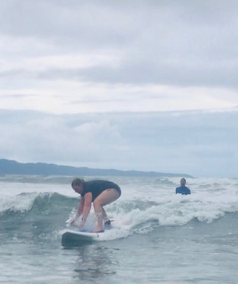 Getting the feel of the wave!