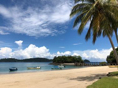 Island Hopping near Isla Coiba, Panama