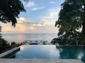 Sunrise over the infinity pool at Hotel Santa Catalina, Veraguas, Panama