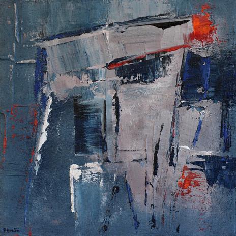 Composition gris-bleu