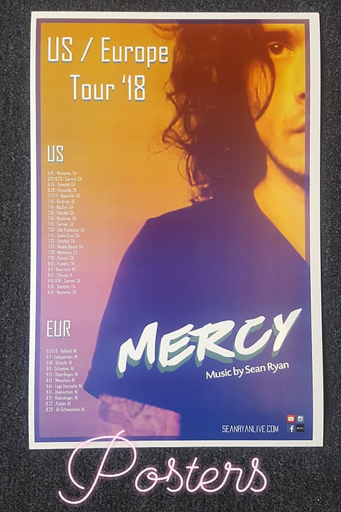 """""""MERCY 2018 TOUR"""" Poster"""