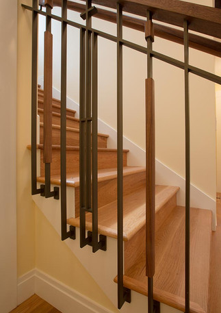 CUSTOM STEEL & WALNUT GUARDRAIL