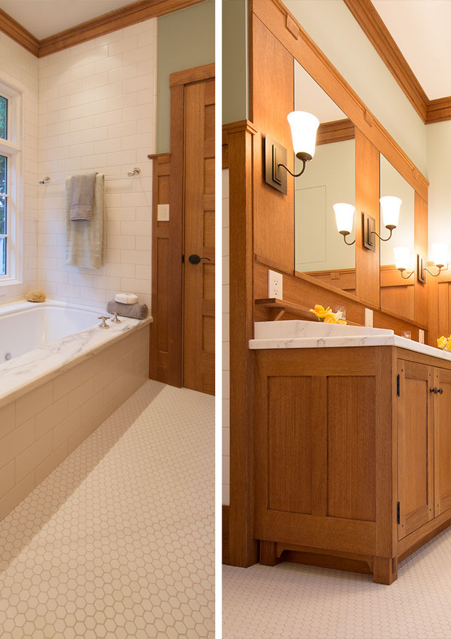 PANELLED MASTER BATHROOM