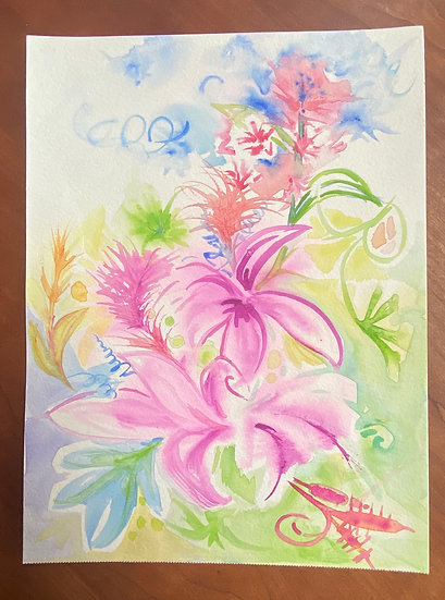 Climbing Floral Study -