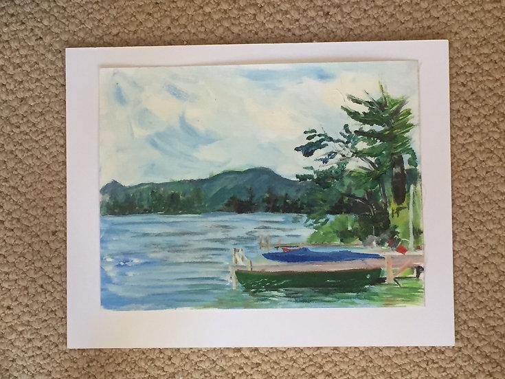 Acrylic on canvas paper - Original Squam RDC shore