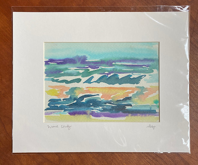 Wave Study 5x7 matted to 8 x 10
