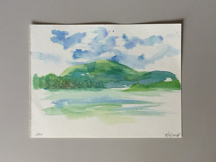 Water Color - Original Red Hill Green scape