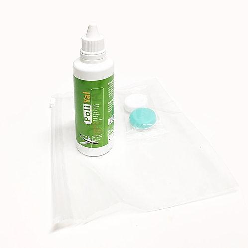 POLY YAL Soluzione Unica con acido Ialuronico, con busta viaggio e porta lenti