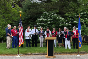 Memorial Day remembrance with aid of Church Choir