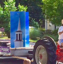 """""""Steeple People"""" at the Bridgewater Tractor Parade"""