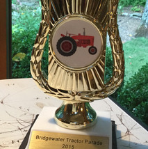 The Church Tractor Parade trophy. Currently on display (with others) in the Friendship Hall bathroom.