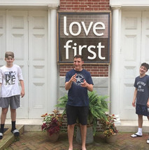 Youth Group boys on the Philly Mission Trip.