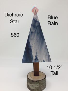Dichroic Star Blue Rain