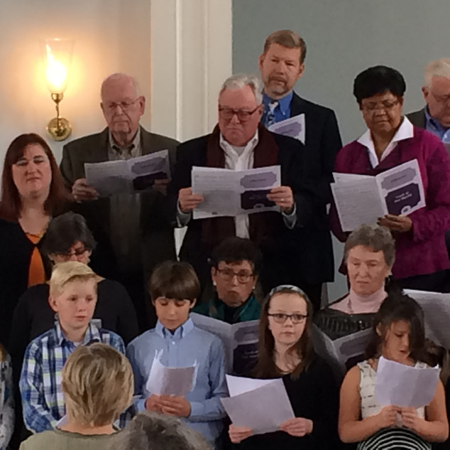 Sunday School joins in with Adult Choir