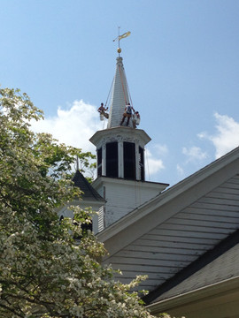 Steeple Jacks repair and paint our 200+ year old church.