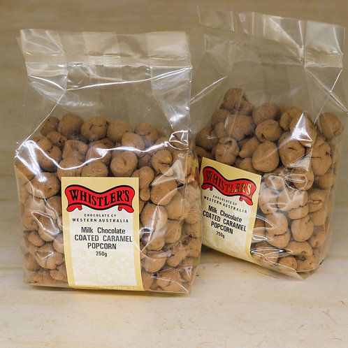 Dusted Chocolate Coated Caramel Popcorn 250g