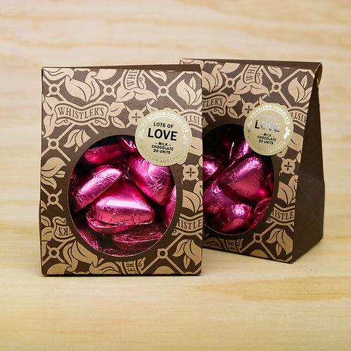 Milk Chocolate Heart Box 20 Units -Pink