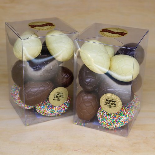12 Mixed Easter Eggs Presentation Box 350g