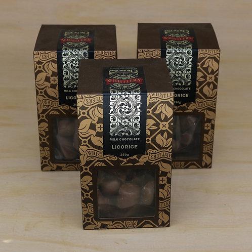 Milk Chocolate Licorice Presentation Box 250g