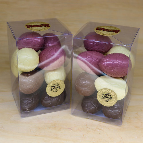 12 Mixed (Ruby) Easter Eggs in Presentation Box 350g