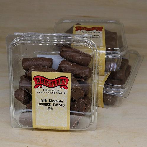Milk Chocolate Licorice Cuts 250g