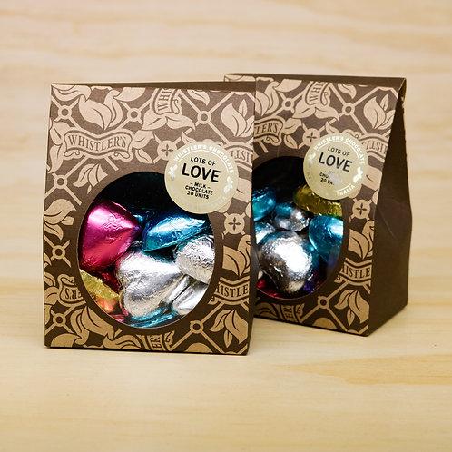 Milk Chocolate Heart Box 20 Units - Mixed
