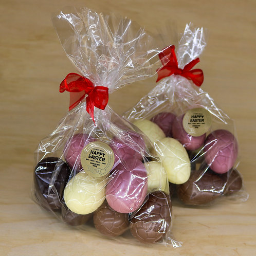 12 Mixed (Ruby) Easter Eggs Cellophane Bag