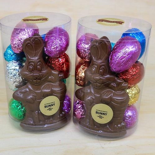 12 Foiled Eggs with Carrot Bunny Milk Chocolate 500g