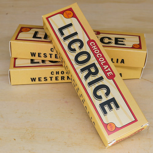 Milk Chocolate Licorice Twin Sticks 80g